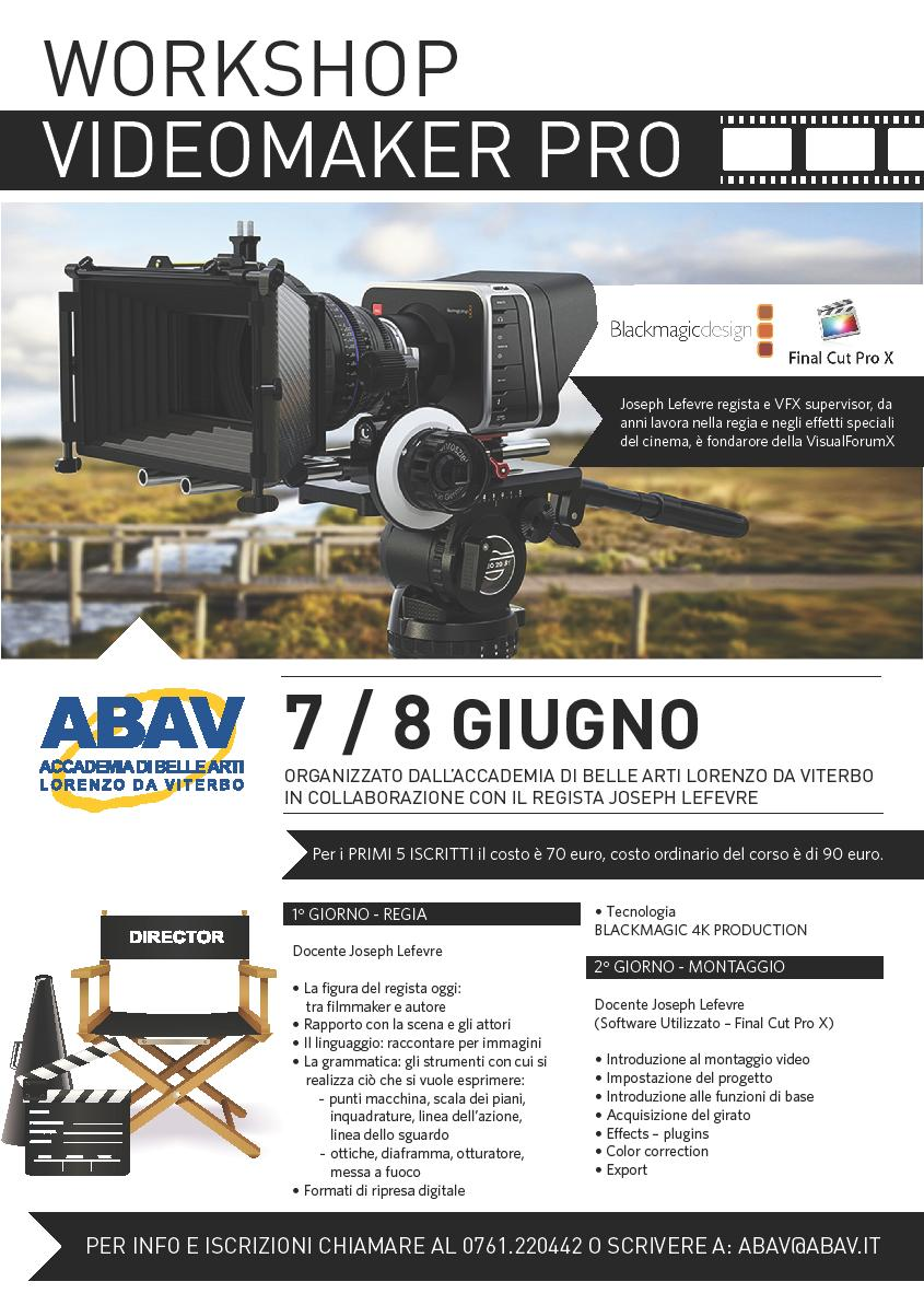 Workshop videomaker pro joseph lefevre accademia di for Gettare i piani del workshop